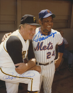 WILLIE SAY HEY KID MAYS - AUTOGRAPHED SIGNED PHOTOGRAPH CO-SIGNED BY: RALPH KINER