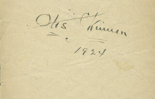 OTIS SKINNER - AUTOGRAPH 1924 CO-SIGNED BY: IRENE BORDONI