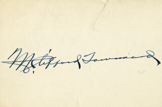 GOVERNOR M. CLIFFORD TOWNSEND - AUTOGRAPH