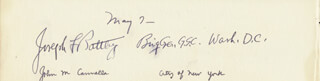 JOHN M. CANNELLA - AUTOGRAPH 05/07 CO-SIGNED BY: GENERAL JOSEPH F. BATTLEY