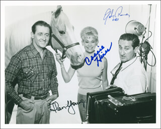 MISTER ED TV CAST - AUTOGRAPHED SIGNED PHOTOGRAPH CO-SIGNED BY: ALAN YOUNG, CONNIE HINES, GABOR GABI RONA