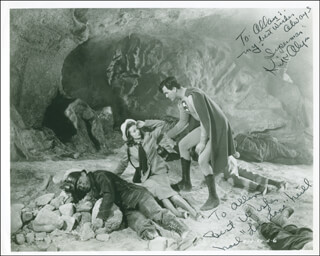 SUPERMAN MOVIE CAST - AUTOGRAPHED INSCRIBED PHOTOGRAPH CO-SIGNED BY: NOEL NEILL, KIRK ALYN