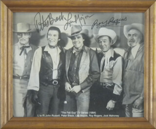 THE FALL GUY TV CAST - AUTOGRAPHED SIGNED PHOTOGRAPH CO-SIGNED BY: PETER BRECK, LEE MAJORS, ROY ROGERS