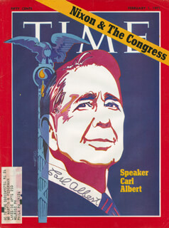 Autographs: CARL B. ALBERT - MAGAZINE COVER SIGNED