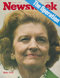 Autographs: FIRST LADY BETTY FORD - MAGAZINE COVER SIGNED