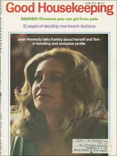 JOAN B. KENNEDY - MAGAZINE COVER SIGNED