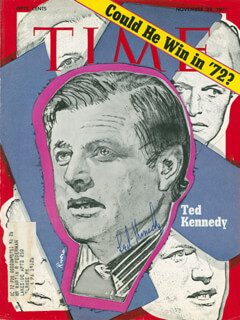 EDWARD TED KENNEDY - MAGAZINE COVER SIGNED