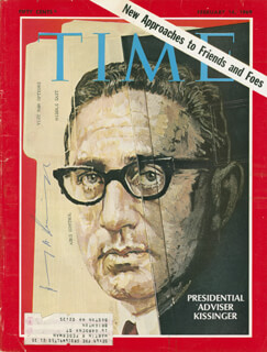 Autographs: HENRY A. KISSINGER - MAGAZINE COVER SIGNED