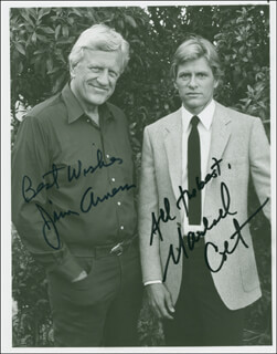 MCCLAIN'S LAW TV CAST - AUTOGRAPHED SIGNED PHOTOGRAPH CO-SIGNED BY: JAMES ARNESS, MARSHALL COLT