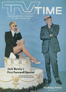 JACK BENNY - INSCRIBED MAGAZINE COVER SIGNED