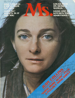JUDY COLLINS - INSCRIBED MAGAZINE COVER SIGNED