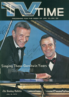 Autographs: JACK LEMMON - MAGAZINE COVER SIGNED CO-SIGNED BY: FRED ASTAIRE