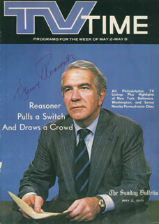 HARRY REASONER - MAGAZINE COVER SIGNED