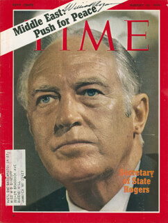 Autographs: WILLIAM P. ROGERS - MAGAZINE COVER SIGNED