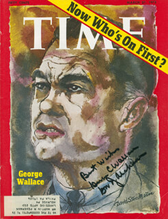 GEORGE C. WALLACE - MAGAZINE COVER SIGNED