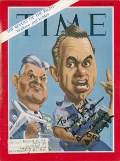 Autographs: GEORGE C. WALLACE - INSCRIBED MAGAZINE COVER SIGNED