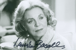 Autographs: LAUREN BACALL - PHOTOGRAPH SIGNED