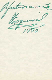 JORGE ESQUIVEL - AUTOGRAPH SENTIMENT SIGNED 1980