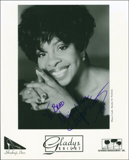 GLADYS KNIGHT - AUTOGRAPHED INSCRIBED PHOTOGRAPH 1999