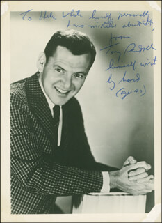 TONY RANDALL - AUTOGRAPH NOTE ON PHOTOGRAPH SIGNED CIRCA 1963