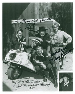 F TROOP TV CAST - AUTOGRAPHED SIGNED PHOTOGRAPH CO-SIGNED BY: MELODY PATTERSON, KEN BERRY, JOE BROOKS
