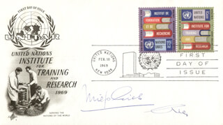 MIEP GIES - FIRST DAY COVER SIGNED CO-SIGNED BY: HENK (JAN AUGUSTUS) GIES