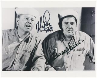 Autographs: EVERYTHING'S DUCKY MOVIE CAST - PHOTOGRAPH SIGNED CO-SIGNED BY: BUDDY HACKETT, MICKEY ROONEY