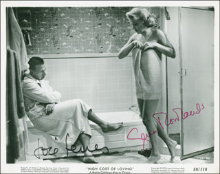 THE HIGH COST OF LOVING MOVIE CAST - PRINTED PHOTOGRAPH SIGNED IN INK CO-SIGNED BY: GENA ROWLANDS, JOSE FERRER