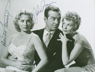 SLIGHTLY SCARLET MOVIE CAST - AUTOGRAPHED SIGNED PHOTOGRAPH CO-SIGNED BY: RHONDA FLEMING, JOHN PAYNE