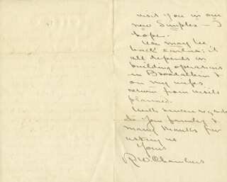 ROBERT W. CHAMBERS - AUTOGRAPH LETTER SIGNED