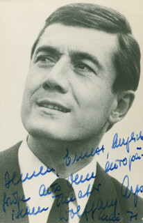 WOLFGANG ARPS - AUTOGRAPHED INSCRIBED PHOTOGRAPH 5/1971