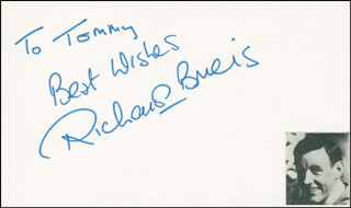 RICHARD BRIERS - AUTOGRAPH NOTE SIGNED