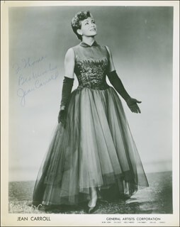 JEAN CARROLL - INSCRIBED PRINTED PHOTOGRAPH SIGNED IN INK