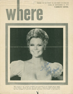 MITZI GAYNOR - NEWSPAPER PHOTOGRAPH SIGNED