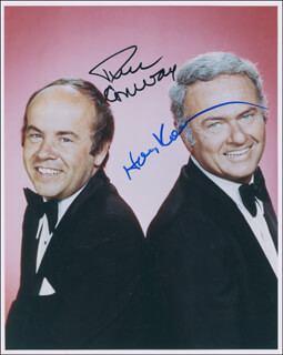 TIM CONWAY - AUTOGRAPHED SIGNED PHOTOGRAPH CO-SIGNED BY: HARVEY KORMAN