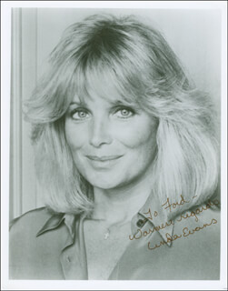 LINDA EVANS - AUTOGRAPHED INSCRIBED PHOTOGRAPH