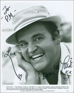 DOM DELUISE - AUTOGRAPHED INSCRIBED PHOTOGRAPH 1995