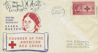 WINIFRED HEIDT - FIRST DAY COVER SIGNED