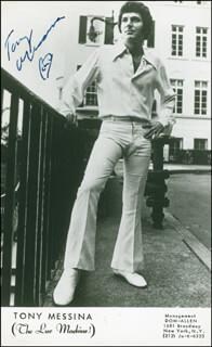 TONY MESSINA - AUTOGRAPHED SIGNED PHOTOGRAPH