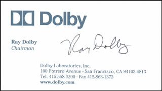 Autographs: RAY DOLBY - BUSINESS CARD SIGNED