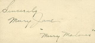 MARY JANE - AUTOGRAPH SENTIMENT SIGNED