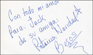 PATRICIA NAVIDAD - AUTOGRAPH NOTE SIGNED