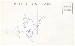 Autographs: MOLLY PICON - PICTURE POST CARD SIGNED