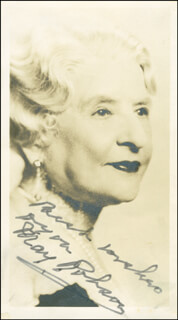 MAY ROBSON - AUTOGRAPHED SIGNED PHOTOGRAPH