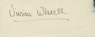 VIVIAN WESSELL - AUTOGRAPH