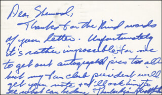 GERALD ANTHONY - AUTOGRAPH LETTER SIGNED CIRCA 1977