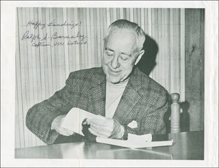 Autographs: RALPH S. BARNABY - PHOTOGRAPH SIGNED