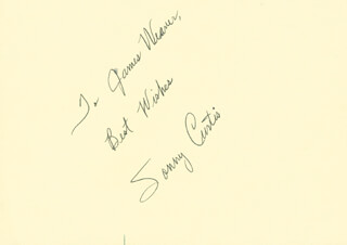 SONNY CURTIS - AUTOGRAPH NOTE SIGNED
