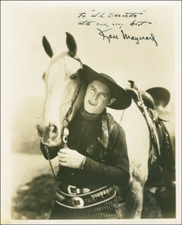 KEN MAYNARD - AUTOGRAPHED INSCRIBED PHOTOGRAPH