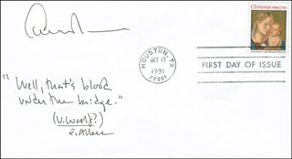 EDWARD ALBEE - FIRST DAY COVER WITH AUTOGRAPH SENTIMENT SIGNED